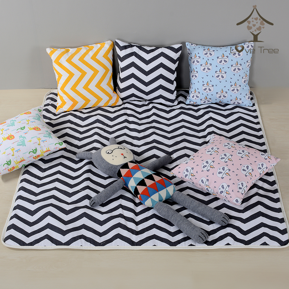 Baby Cavans Cushion Play Mat for Teepee Tent Foldable Kids Game Floor Mats Children Room Decoration
