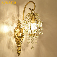 French Style Crystal Wall Lamps Indoor Wall Light Fixtures Living Room Bedside Bedroom Corridor Sconce Modern Crystal Wall Lamp