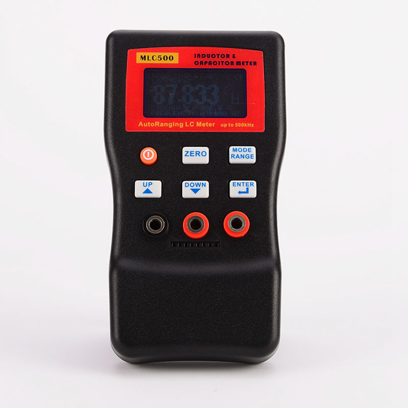 Hot Sale High Accuracy Electronic Capacitance Digital Bridge LC Meter MLC500 Handheld Inductance Meter 1% Accuracy 500KHz Test 3 1 2 1999 count digital lc c l meter inductance capacitance tester mastech my6243