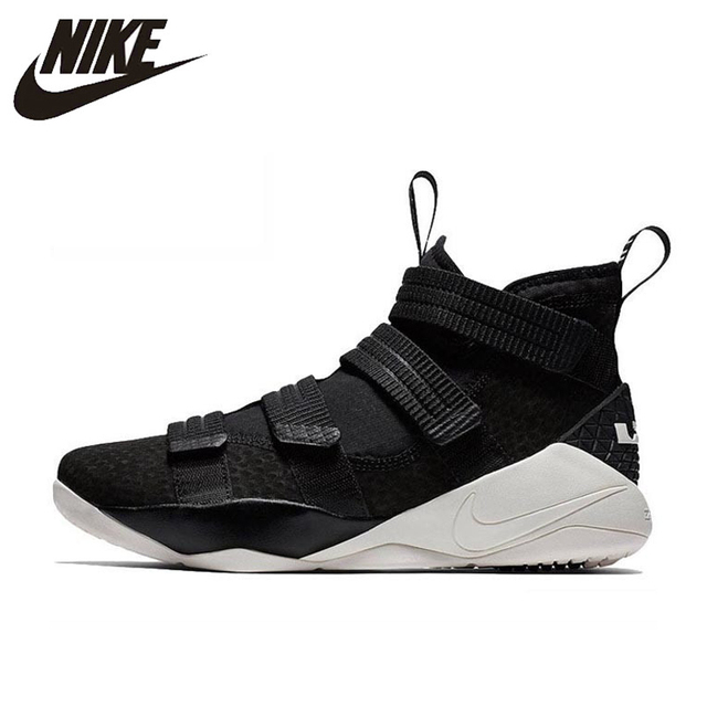 3c051d68f8e7 Original Authentic Nike LEBRON SOLDIER 11 Men Basketball Shoes Medium Cut  Sports outdoor Sneakers 2018 New Arrival 897647-004. Anniversary Sale US ...