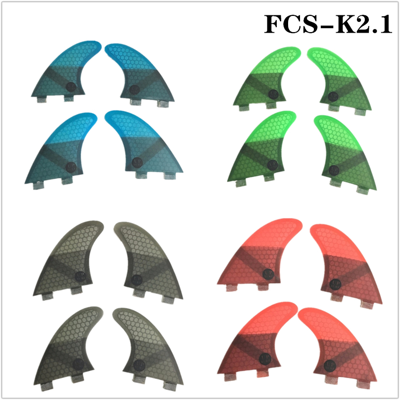 Surf FCS Fins K2.1 Honeycomb Fibre Surfboard Fin 4 Pieces In Per Set Quilhas Pranchas De 4 Colors Available