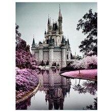 DIY Полный Круглый Алмаз живопись древний замок вышивка крестиком алмазные стразы украшение дома ремесло