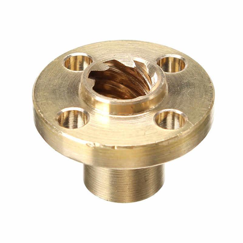 3Dเครื่องพิมพ์T8 1/2/4/8/10/12 มม.ทองแดงสกรูNutสำหรับStepperมอเตอร์เครื่องมือRailsสกรูตะกั่ว 8 มม.เกลียวเกลียว