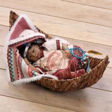 2018 nya indianska indiska reborn baby svart docka samling hobby dekoration kultur utbildning kreativ personlighet leksak