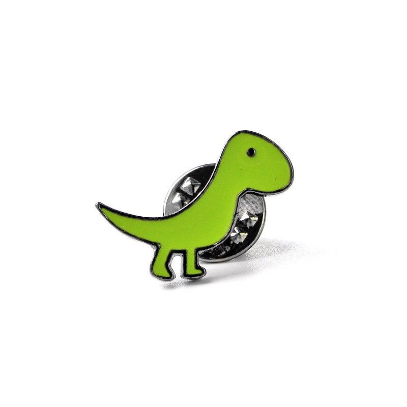 5Pc / set Colorful Cartoon Brooch Pin Enamel Cute Little Dinosaur - Сәндік зергерлік бұйымдар - фото 4