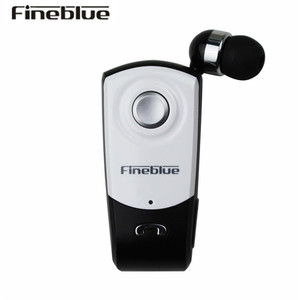 FineBlue F960 call vibration retractable Bluetooth earphone with mic answer phone calls and enjoy your music freely