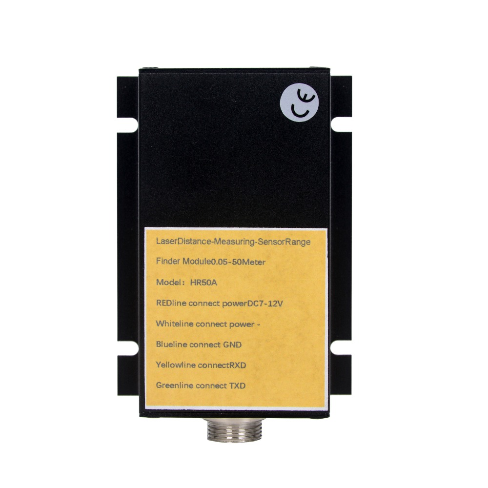 2019 NEW aluminium 50m Laser ranging module serial rangefinder safety monitoring Distance Measuring serial TXD RXD