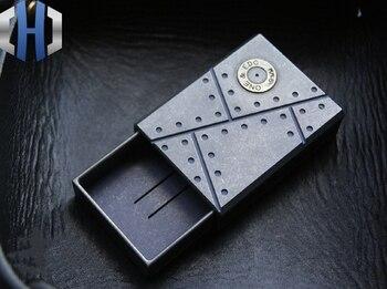 EDC титана сплав Matchbox коробка для хранения на открытом воздухе портативная маленькая коробка для таблеток