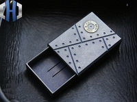 EDC Titanium Alloy Matchbox Storage Box Outdoor Portable Small Pill Box|Crowbars| |  -