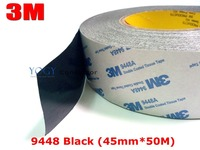 3M Black, 45mm* 50 meters 3M BLACK 9448 Double Sided Adhesive Tape Sticky for LCD /Screen /Touch Dispaly /Housing /LED