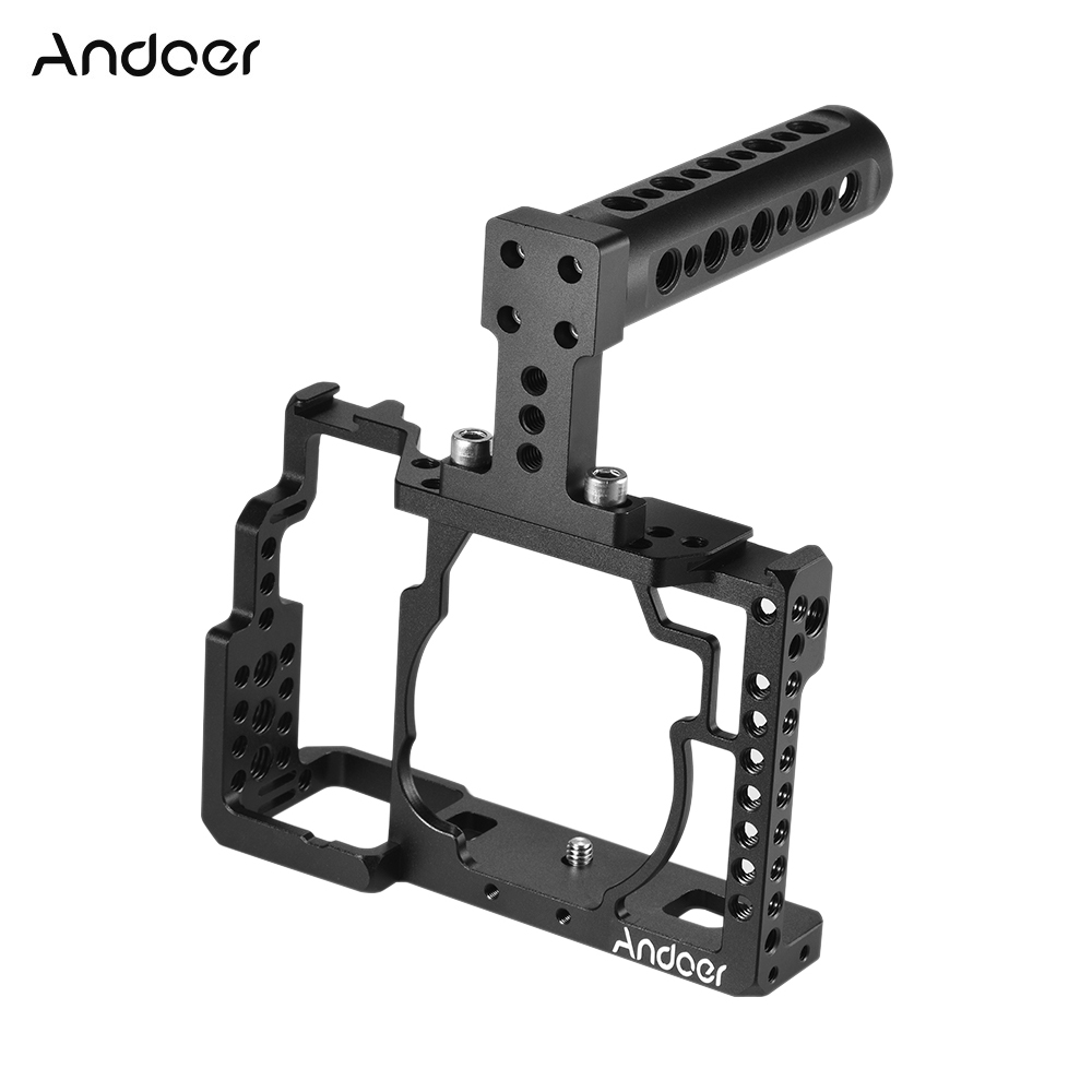 Andoer Aluminum Alloy Camera Cage Top Handle Kit Video Film Movie Making Stabilizer System for Sony