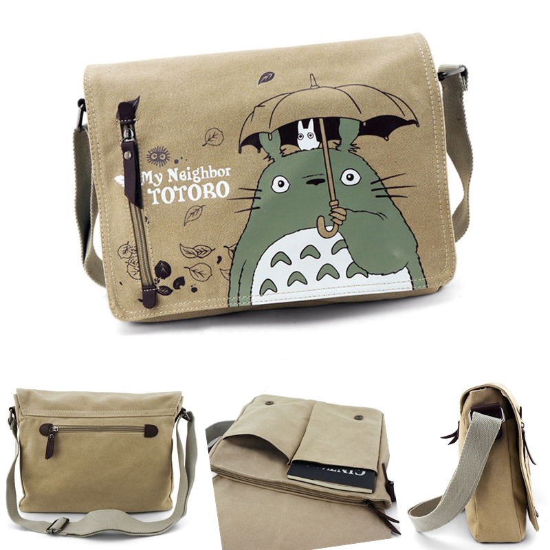 Women Ladies Canvas Messenger Bag Shoulder Bag Sling Pack My Neighbor Totoro Handbags Cosplay Crossbody Bags for Teenager цены