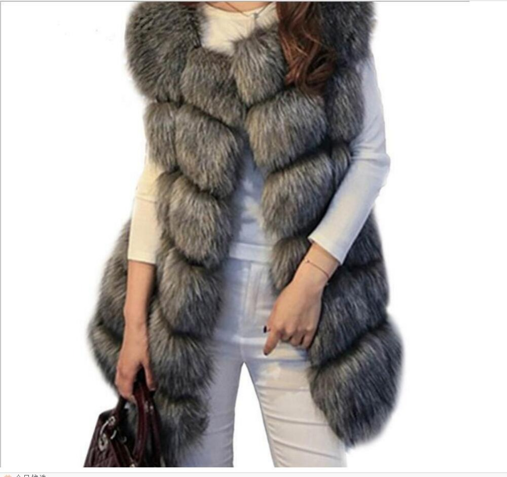 Faux Fox Warm Women Coat Winter Fashion furs Women's Coats   Jacket   Veste High quality Fur coat Luxury   basic     jacket