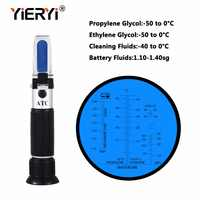 yieryi Hand Held Tester Tool 4 In 1 Engine Fluid Glycol Antifreeze Freezing Point Car Battery Refractometer Antifreeze Tester