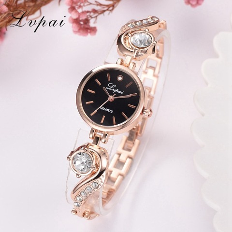 Lvpai Brand Luxury Rhinestone Watches Women Quartz Bracelet Watches Ladies Dress New Fashion Rose Gold Clock relogios kol saati Karachi