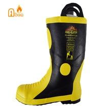 Горячая Распродажа, дешевые Нескользящие защитные ботинки для пожарных
