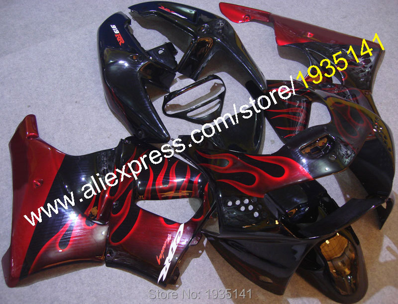 Hot Sales,For Honda 98 99 CBR900RR 919 1998 1999 Body Kit CBR 900 RR CBR919 Red Flame Af ...