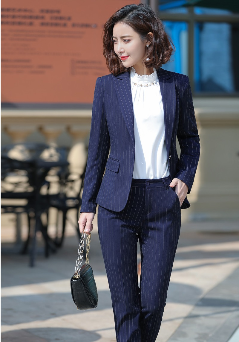 Formal Business Suits With Pants And Jackets Coat For Women Office Work Wear Pantsuits Female Pants Suits Trousers Sets Blazers