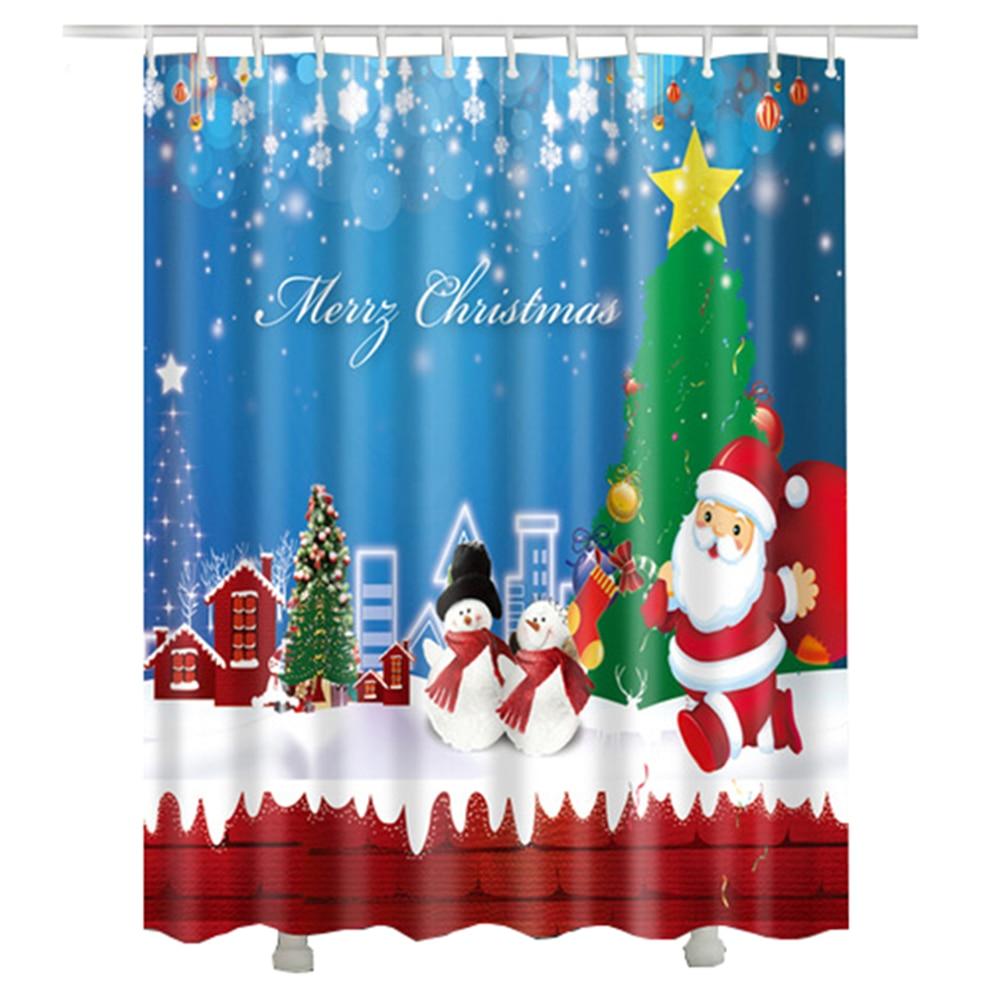 Weihnachtsmann Weihnachten Duschvorhang Urlaub Dekorative Geschenk ...