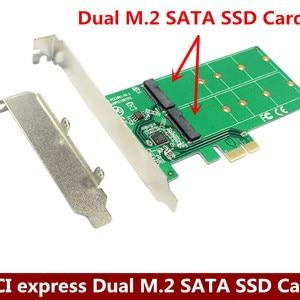 PCI express Dual M.2 SATA SSD