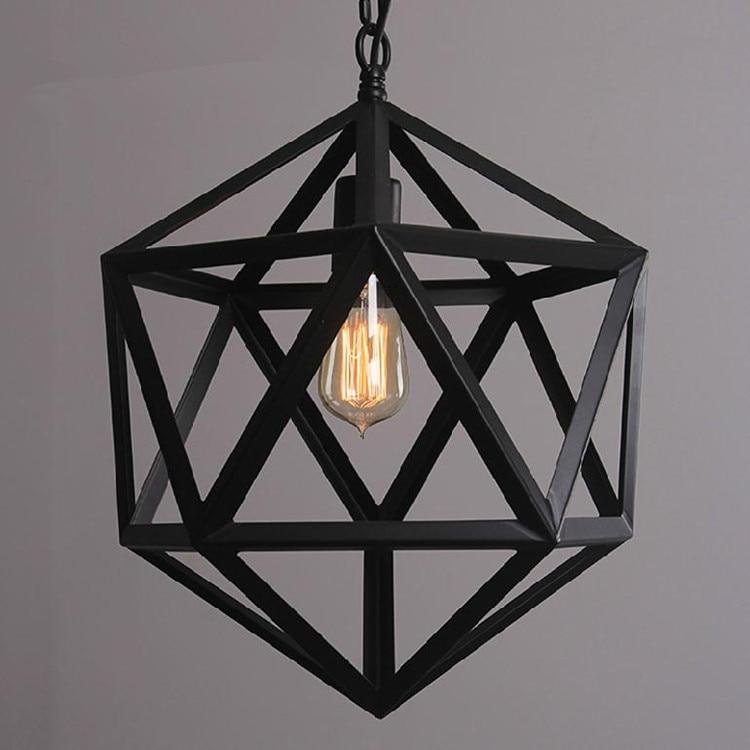 Vintage LOFT chandelier Cage Lamp living room lights E27 Holder iron lamps Restaurant Bar Counter Attic Bookstore