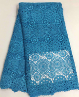 Low price wholesale and retail high class guipure lace fabric high quality African cord lace fabric for dress!