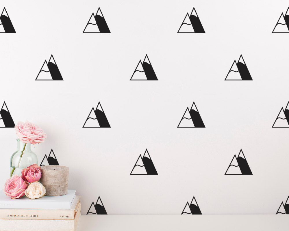 compare prices on mountain wall decal online shopping buy low 50pcs set nordic style mountains diy wall sticker for kids room girl boy bedroom nursery