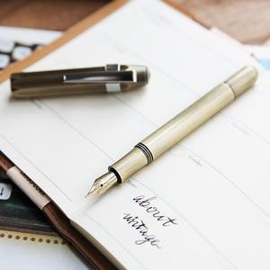 Image 5 - Inchiostro Della Penna In Ottone TN Epoca Fatti A Mano Piccolo Opere Darte Calligrafia Adulto Penna Mini Portatile Penna Stilografica 0.5 millimetri