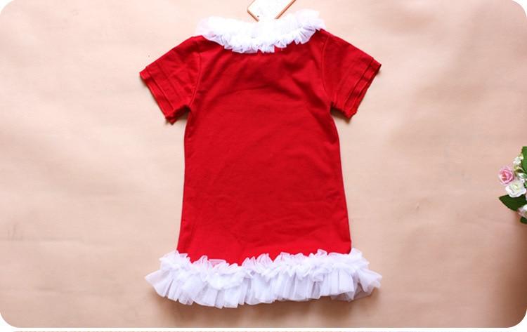 Aliexpress.com : Buy Baby Girl Red Christmas Dress Girl's Short ...