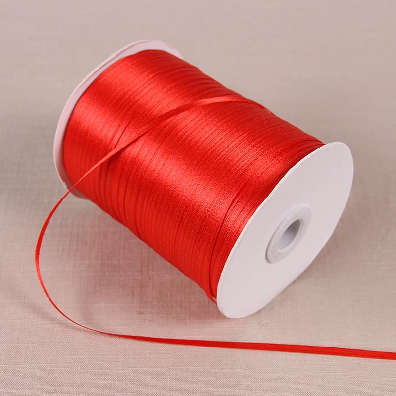22 м/лот 3 мм атласные ленты для свадьбы День рождения коробка шоколадных конфет подарочная упаковка ленты Рождество Хэллоуин Декор - Цвет: Red