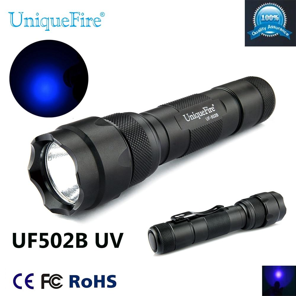 Uniquefire 1 Mode WF-502B UV LED 395-400nm lommelygte lommelygte til - Bærbar belysning