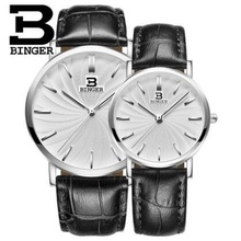 Geneva Binger Mens Watches Top Brand Luxury Ultra Slim Quartz Watch Lovers 2017 Business Leather Band Relogio Masculino