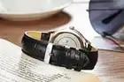Mige 2017 настоящая Новинка Горячая Распродажа модные женские часы Белый Коричневый Черный Кожаный ремешок водонепроницаемые женские часы кварцевые женские часы - 4
