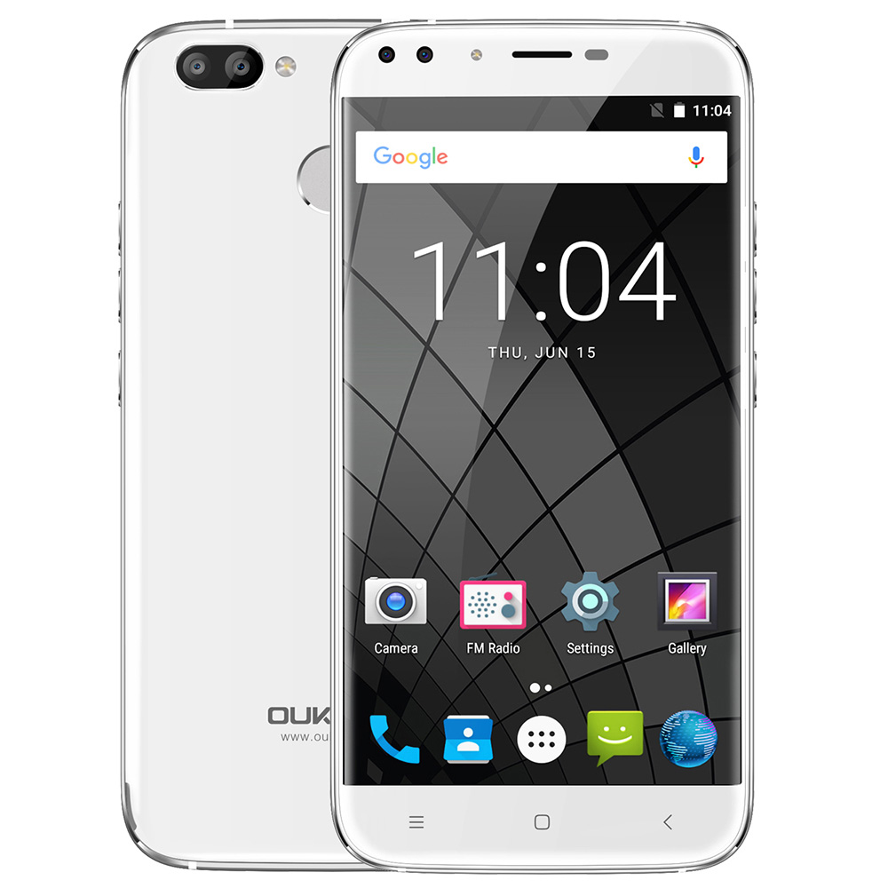 Oukitel U22 Four Cameras 3G Phablet 5.5 inch Android 7.0 MTK6580A Quad Core 2GB 16GB 2700mAh 8.0MP Fingerprint Sensor Celllphone