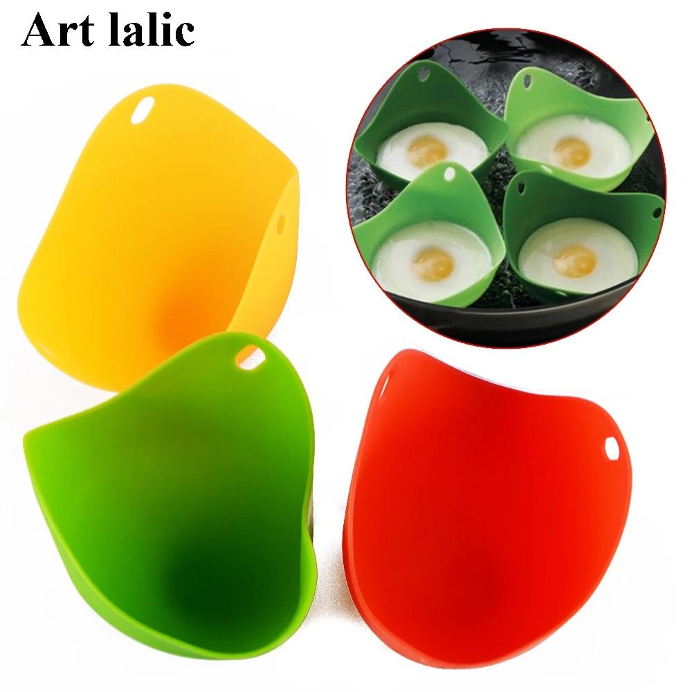 Get A Egg Poacher Cook Poach Pods Silicone Kitchen Cookware Tool For You DI