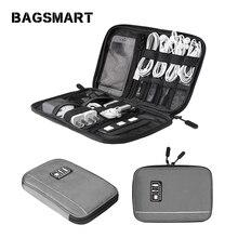 BAGSMART туристических электронные аксессуары Сумка мужская портативный организаторам за данные строки SD-карты USB-кабель для цифровых устройств