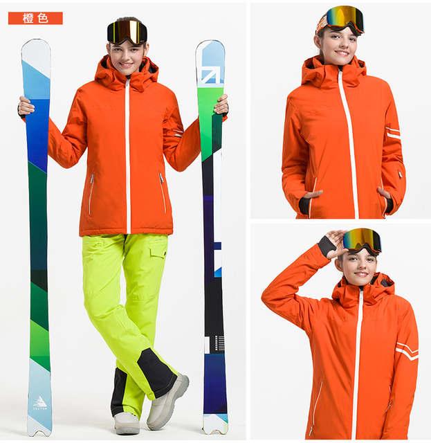 VECTOR Professional Men Women Ski Suits Waterproof Warm Skiing Snowboarding  Jackets + Pants Winter Snow Clothing 473e958fd