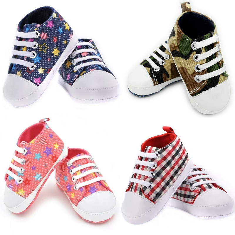 HOOYI Baby Canvas Shoes Newborn First Walkers Non-Slip Unisex Infant Boots Children Plimsolls Girl Sport Shoe Boys Sneakers Soft