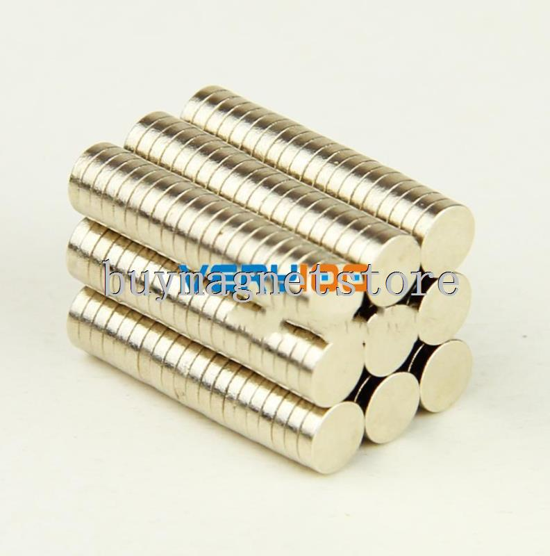 2000pcs 4 mm x 1 mm Disc Neodymium Cylinder Rare Earth Strong Fridge Magnets N35 ndfeb Neodymium magnets