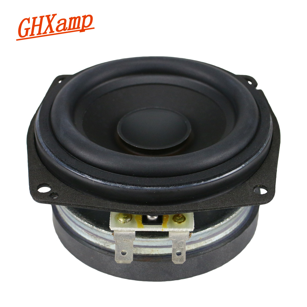 GHXAMP 3.5 Inch Mid Bass speakers Hifi 4ohm 25W Bluetooth Speaker DIY Aluminum Magnesium Basin 85mm Large Magnetic Steel 1pc ghxamp 3 inch 4ohm 30w midrange speaker car speaker mid human voice sound good loudspeaker for lg diy 2pcs