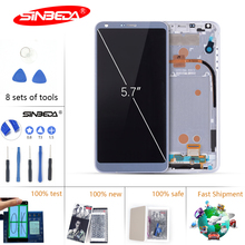 5.7Sinbeda 100% New  For LG G6 LCD Display Touch Screen Digitizer Assembly H870 H871 H872 LS993 VS998 for LG G6 Display 5 7 silicone coque for lg g6 case transparent painted cover for lg g 6 g6 pro g6 case for lg h870 h871 h872 h873 ls993 fundas
