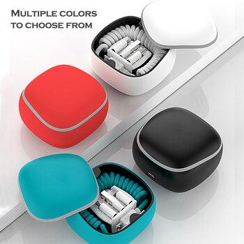 Портативный мини Powerbank Pd/qc 3,0 быстрое зарядное устройство для Iphone Type C Micro Usb регулируемый пружинный кабель для Huawei Samsung