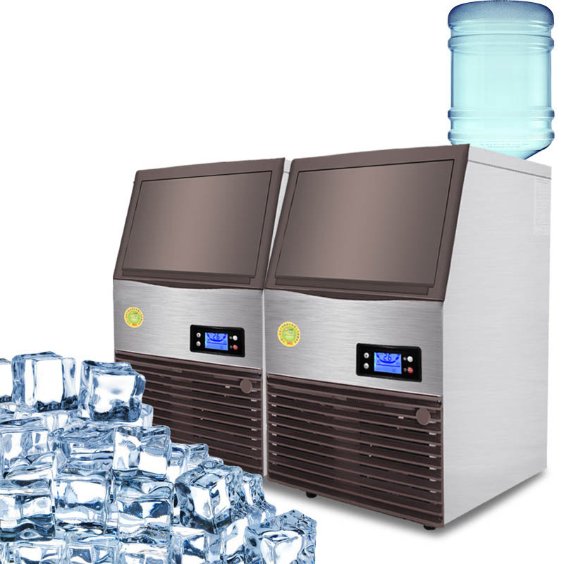 Jamielin Business Automatic Fresh Ice Maker 96kg Commercial Square Ice Cube Making Machine For Coffee Bar Shop