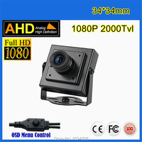 Micro Ahd Camera Imx322 1080P Mini AHD Camera 2000TVL 2 0megapixel AHD Camera CCTV Security Camera