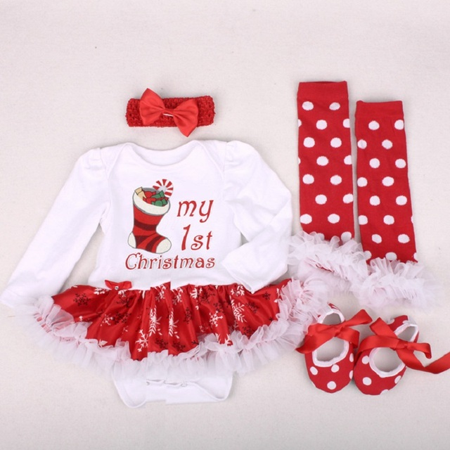 baby girl clothes newborn baby romper my first christmas long sleeve lace romper dress bebes xmas - What To Buy A Girl For Christmas