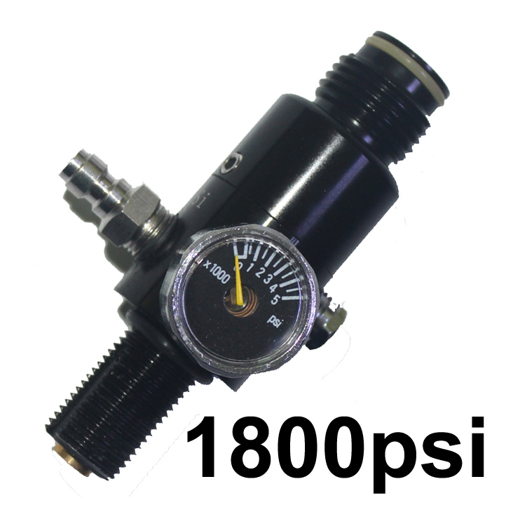 Paintball co2 cylinder shooting 3000PSI Compressed Air Tank Regulator Output Pressure 800psi/1800psi 5/8-18UNF