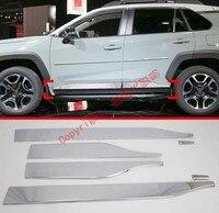 Abs Chrome Side Door Body Molding Moulding Trim Voor Toyota Rav4 2019 2020