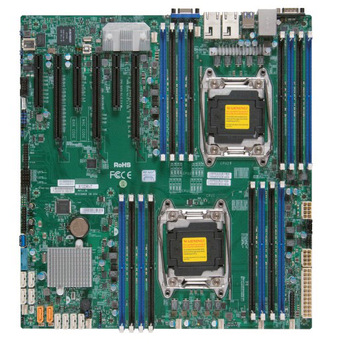 OEM USED  X10DRI dual E52011C612DDR4 server motherboard IPMI 2 network port