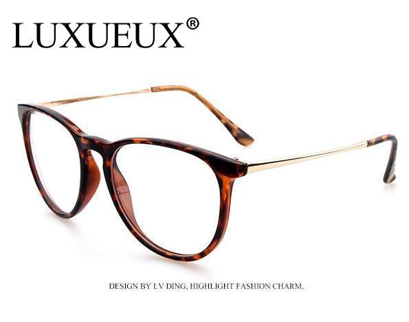 New Fashion 2015 tops ,Vintage Round Metal Frame Glasses Clear Lens Plain eyeglasses Brand Designer wholesale