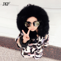 Winter Children Real Mink Fur Coat Natural Kids Mink Patchwork Coat Warm Colourful Mink fur Jackets Baby Girls Boys Clothing